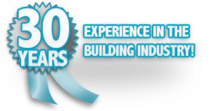 Badge displaying that Silverlinings has 30 years experience in the building industry.